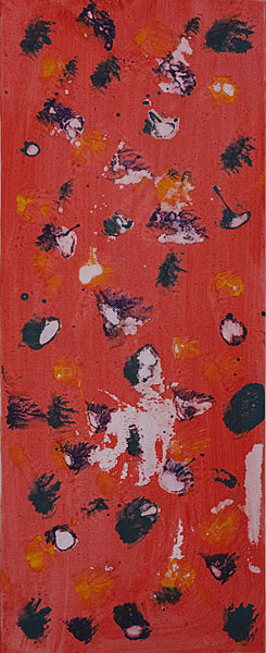 Bunt 114 - 20x50 Acryl auf Leinwand