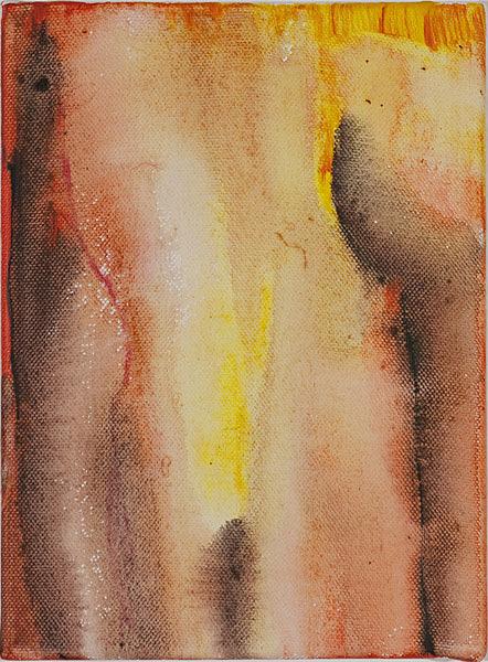 Bunt 126 - 17,5x24 Acryl auf Leinwand