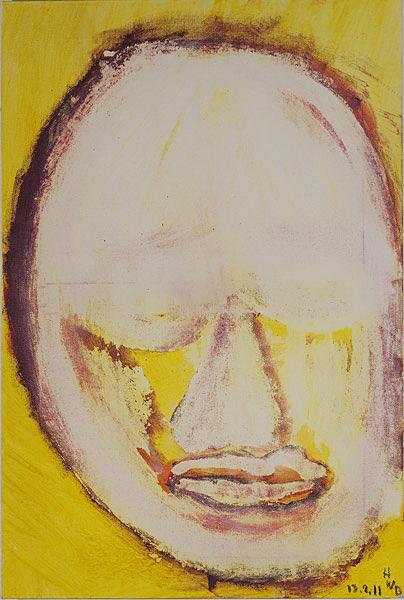 Gelb 131 - 40x60 Acryl auf Leinwand