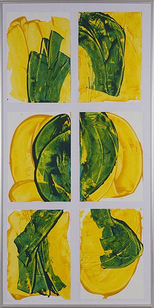 Gelb 133 - 50x100 Acryl auf Papier je 6 Bilder 20x30