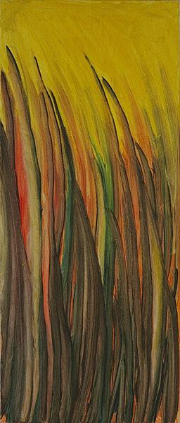 Gelb 134 - 30x70 Acryl auf Leinwand