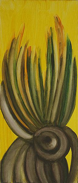Gelb 135 - 30x70 Acryl auf Leinwand
