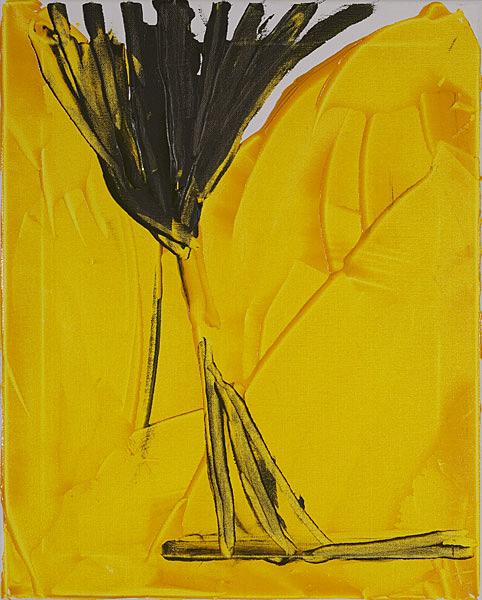 Gelb 136 - 40x50 Acryl auf Leinwand