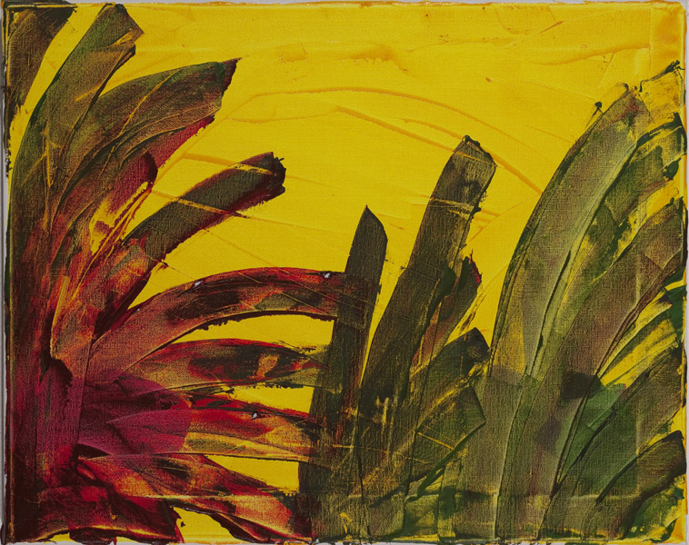 Gelb 137 - 40x50 Acryl auf Leinwand