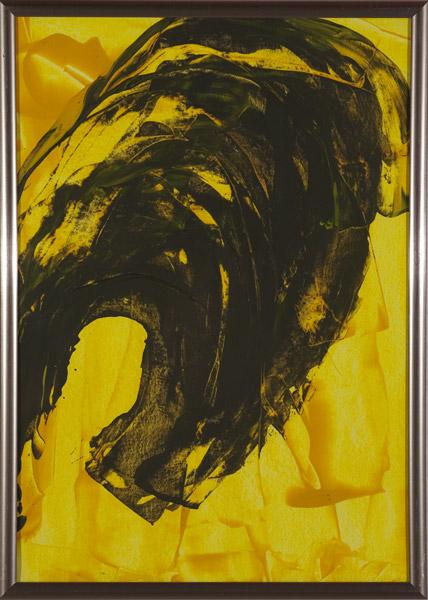Gelb 139 - 22x30 Acryl auf Papier