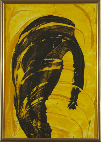 Gelb 143 - 22x30 Acryl auf Papier