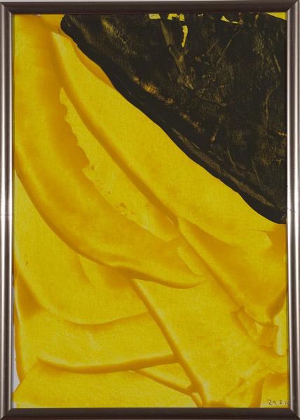 Gelb 144 - 22x30 Acryl auf Papier