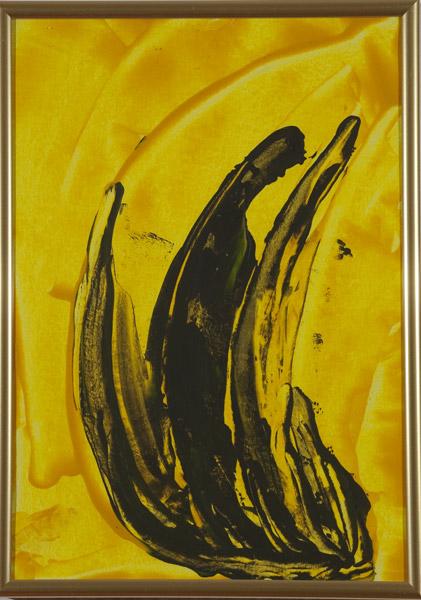 Gelb 146 - 22x30 Acryl auf Papier