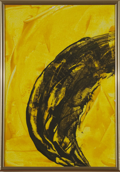 Gelb 147 - 22x30 Acryl auf Papier