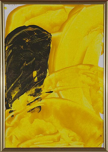 Gelb 152 - 22x30 Acryl auf Papier