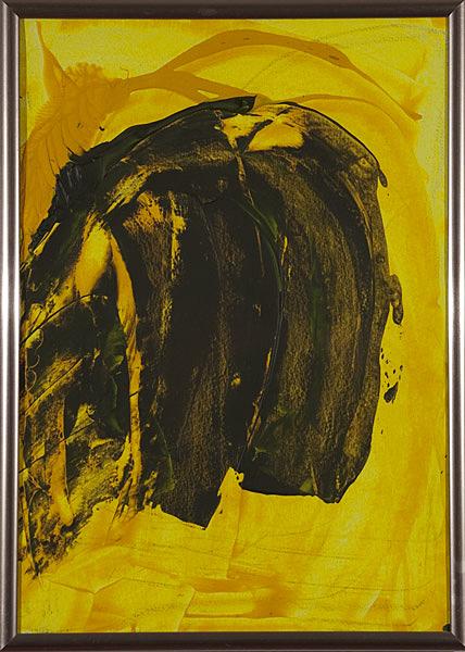 Gelb 153 - 22x30 Acryl auf Papier
