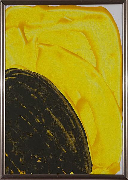 Gelb 155 - 22x30 Acryl auf Papier