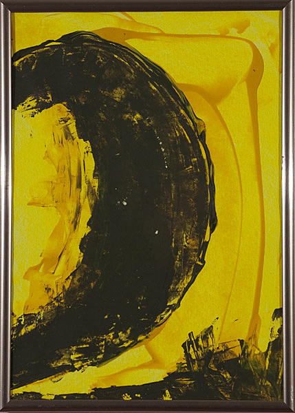 Gelb 156 - 22x30 Acryl auf Papier
