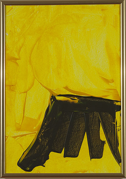 Gelb 157 - 22x30 Acryl auf Papier