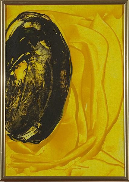 Gelb 158 - 22x30 Acryl auf Papier