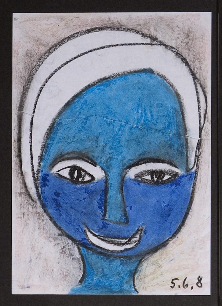 Gesichter 010-3 - 21x30 Ölkreide auf Papier