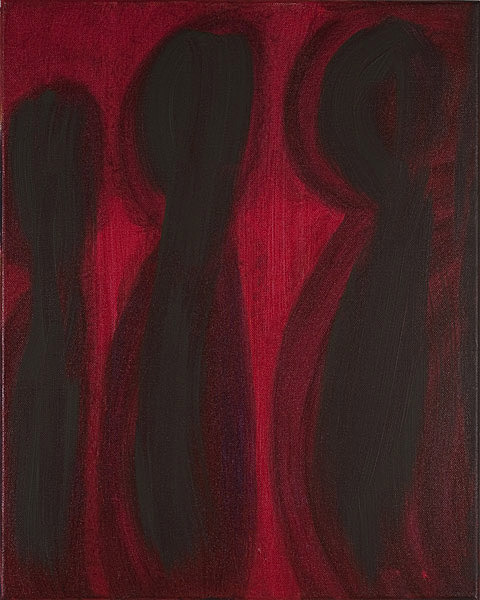 Rot 100 - 40x50 Acryl auf Leinwand