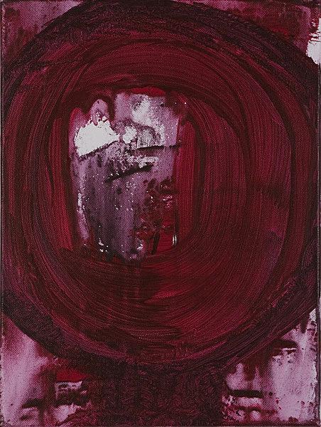 Rot 102 - 30x40 Acryl auf Leinwand