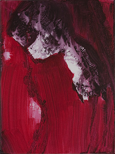 Rot 103 - 30x40 Acryl auf Leinwand
