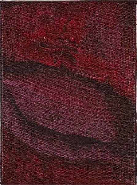 Rot 106 - 17,5x24  Acryl auf Leinwand