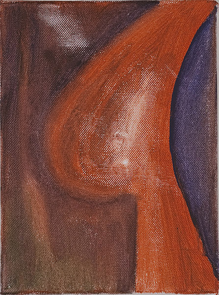 Rot 107 - 17,5x24  Acryl auf Leinwand