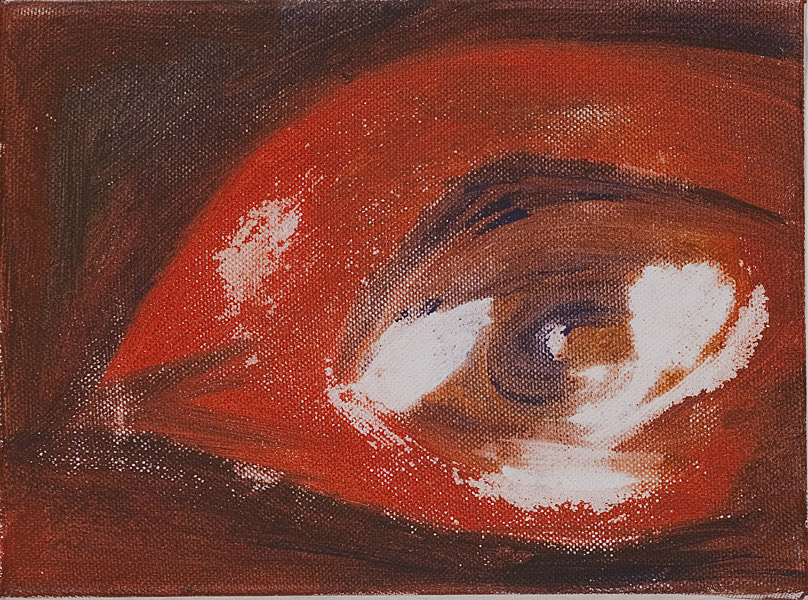 Rot 108 - 17,5x24  Acryl auf Leinwand