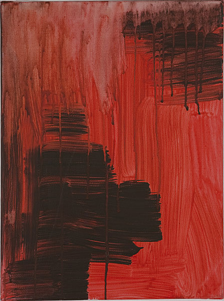 Rot 098 - 30x70 Acryl auf Leinwand