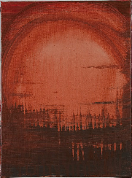 Rot 099 - 30x40 Acryl auf Leinwand